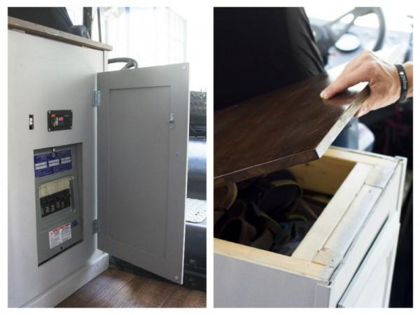 Шкаф с аккумуляторами и инвертором