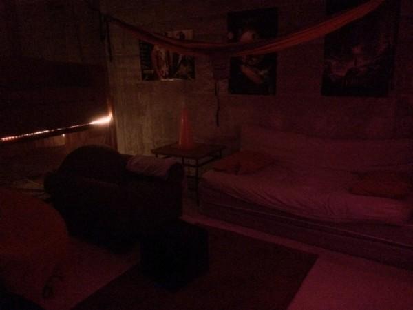 Домашний кинотеатр с приглушённым светом