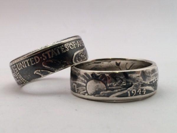 Кольца из монеты половина доллара