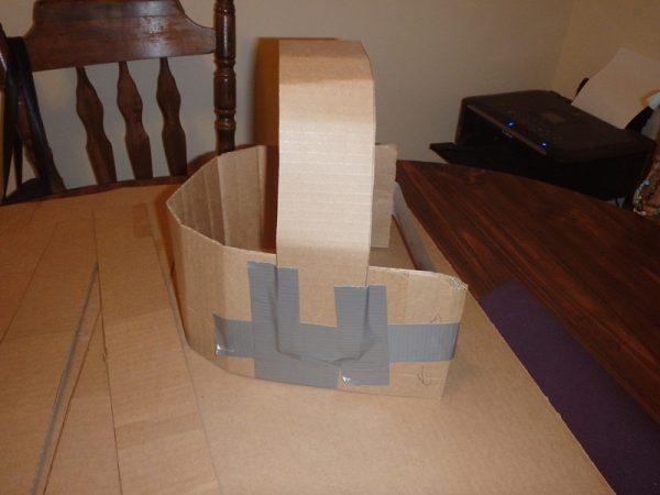 Каркас маски из картона