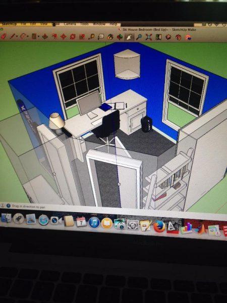 План комнаты на компьютере