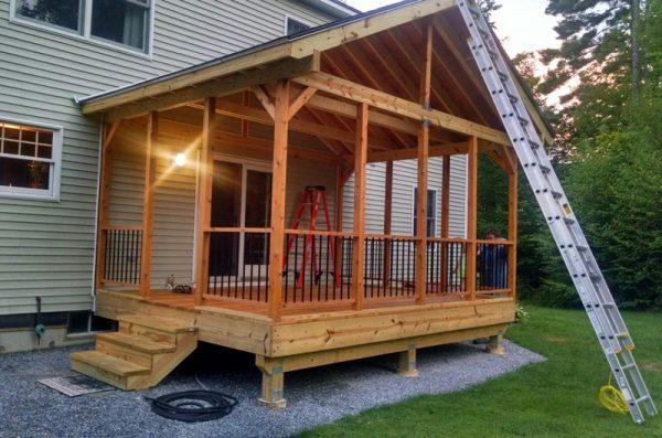 Как построить веранду в частном доме своими руками 6