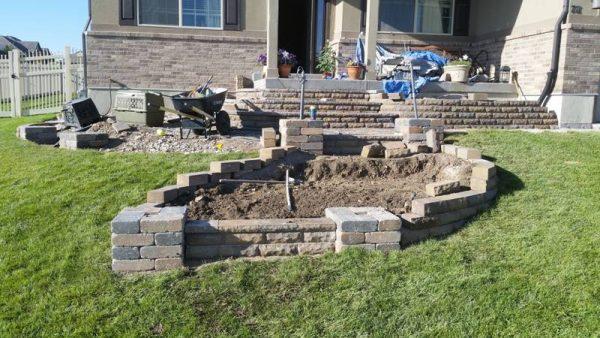 Строительство лестницы на тропинке