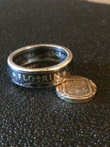 Кольцо из австралийского флорина