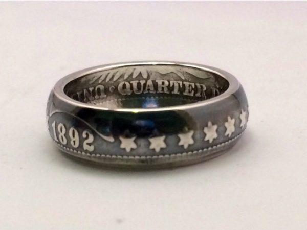 Кольцо из монеты Barber Quarter